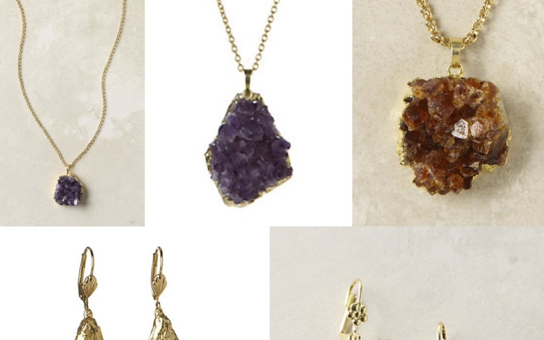 DIY – Gold-Dipped Raw Gem Jewelry
