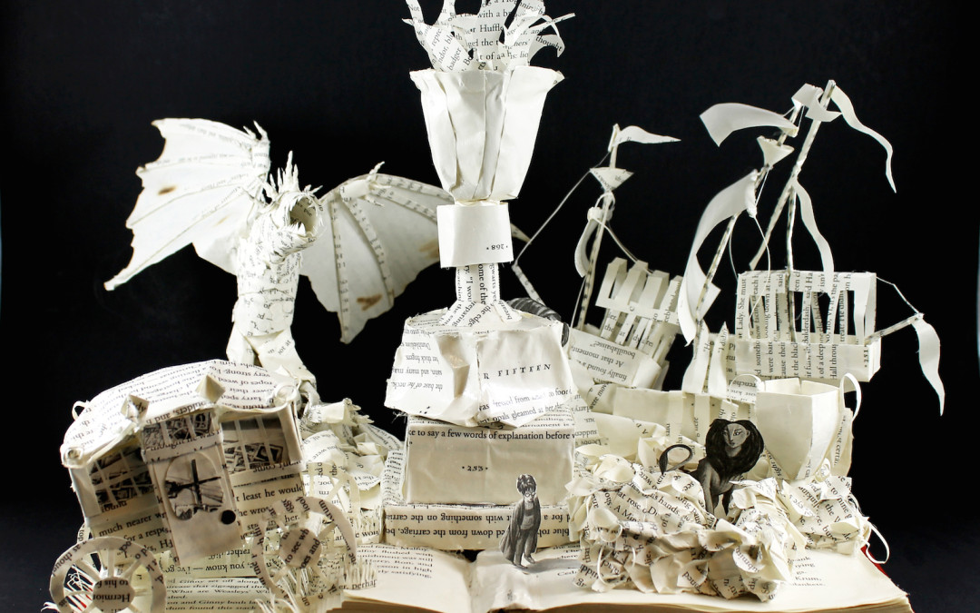 Book Sculpture: Harry Potter and the Goblet of Fire