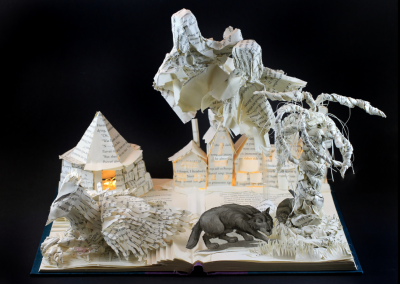 Harry Potter and the Prisoner of Azkaband Book Sculpture