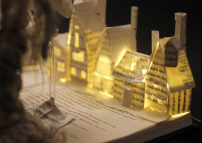 Harry Potter and the Prisoner of Azkaban Book Sculpture - Hogsmeade