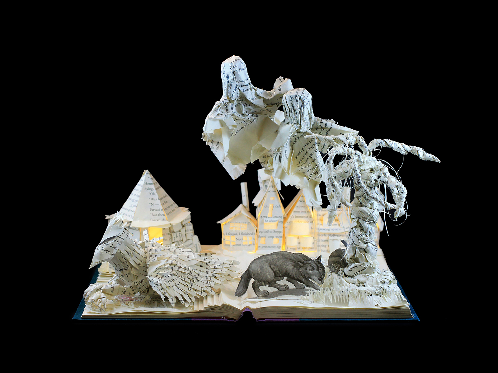 Harry Potter and the Prisoner of Azkaban book sculpture