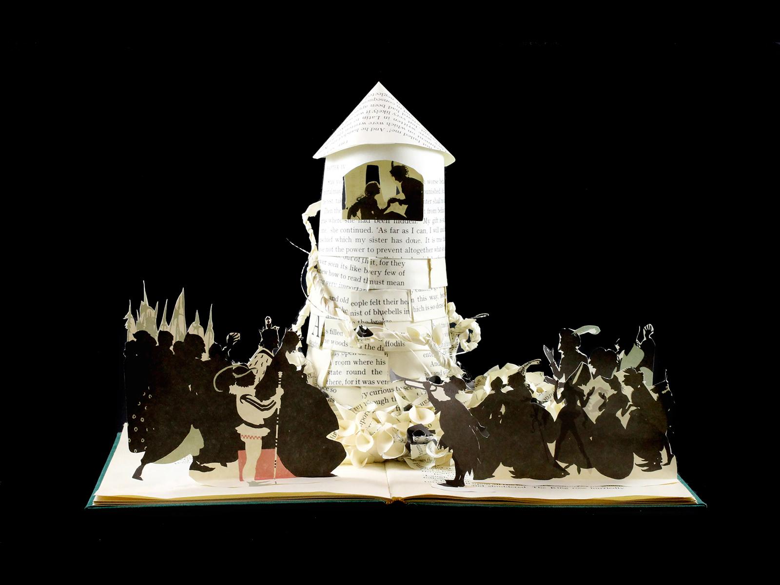 Sleeping Beauty book sculpture by jamie b. hannigan