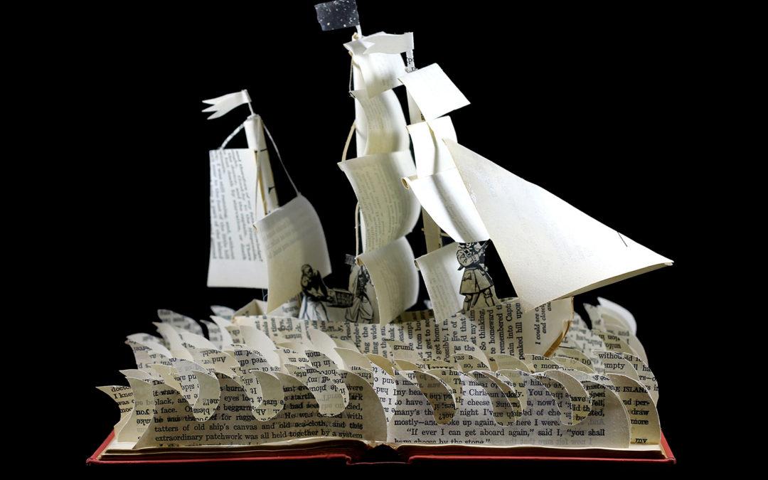 Book Sculpture: Treasure Island 2.0