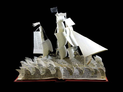 Book Sculpture: Treasure Island 2.0