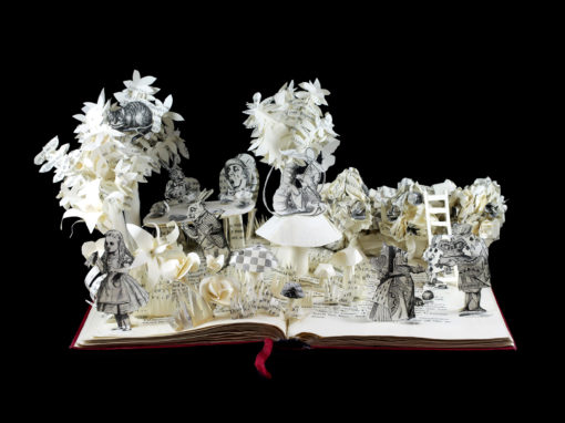 Book Sculpture: Alice in Wonderland II