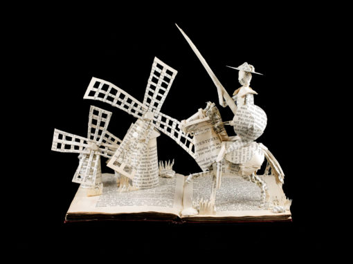 Book Sculpture: Don Quixote