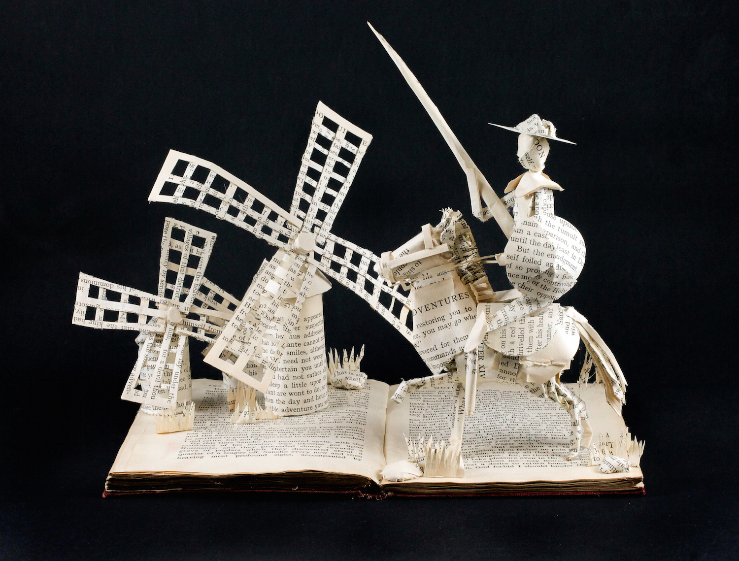 Don Quixote Book Sculpture - Jamie B Hannigan