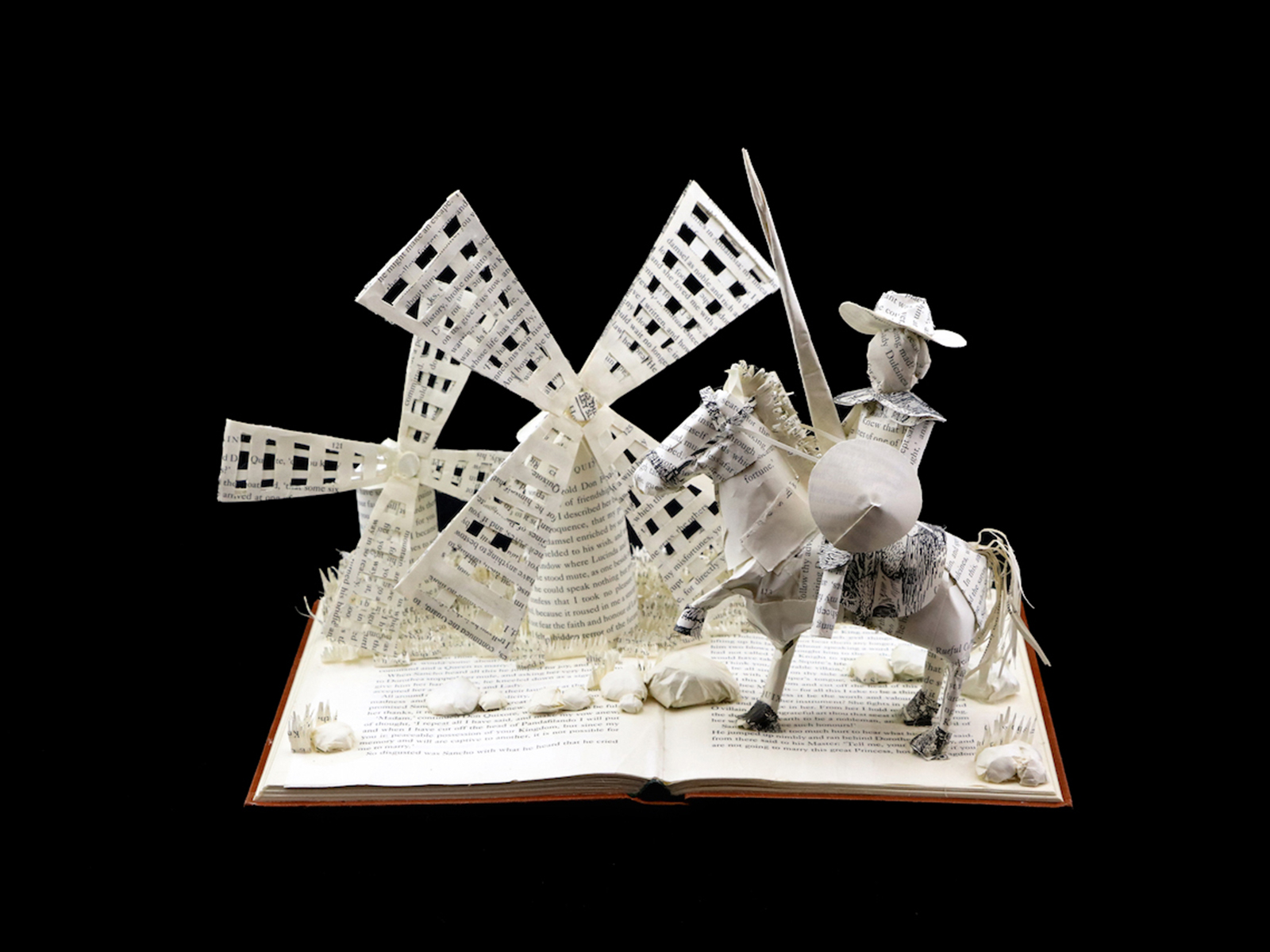 Custom Book Sculpture by Jamie B. Hannigan - Don Quixote of the Mancha
