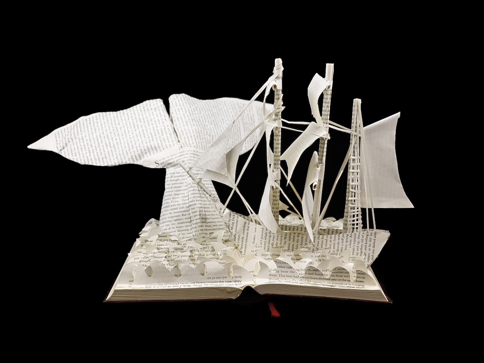 Custom Book Sculpture by Jamie B. Hannigan - Moby Dick