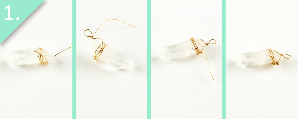 DIY Gold-Dipped Crystal Earrings & Pendant Tutorial - Step 1 - Jamie B Hannigan