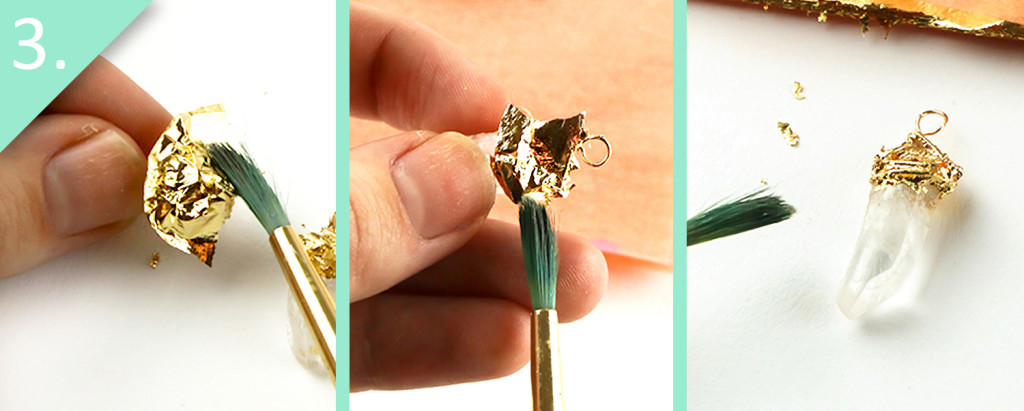 DIY Gold-Dipped Crystal Earrings & Pendant Tutorial - Step 3 - Jamie B Hannigan
