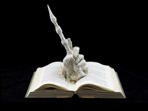 Book Sculpture: Harry Potter and the Deathly Hallows