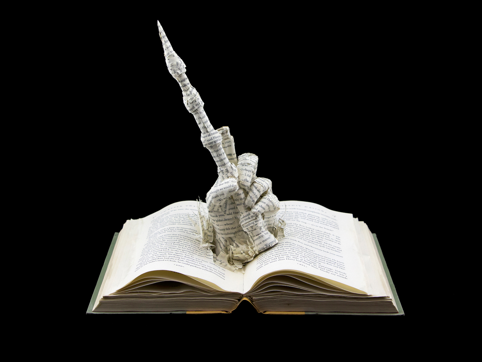 Harry Potter Elder Wand Book Sculpture