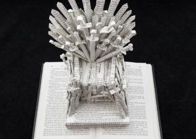 GoT Iron Throne Book Sculpture by Jamie B Hannigan - View from Above