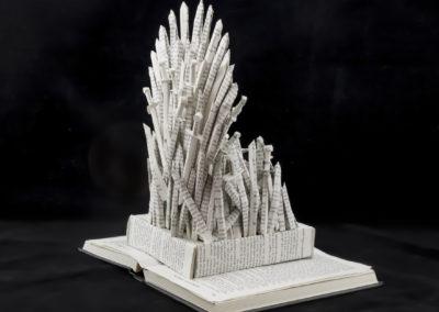 GoT Iron Throne Book Sculpture by Jamie B Hannigan - Back Right