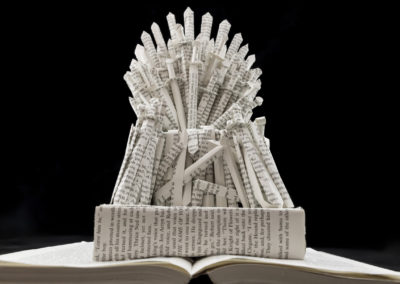 GoT Iron Throne Book Sculpture by Jamie B Hannigan - View from Below