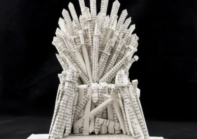 GoT Iron Throne Book Sculpture by Jamie B Hannigan - Front Detail