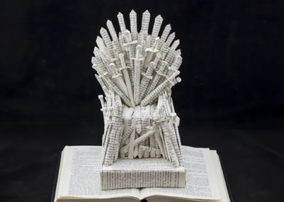 GoT Iron Throne Book Sculpture by Jamie B Hannigan - Front