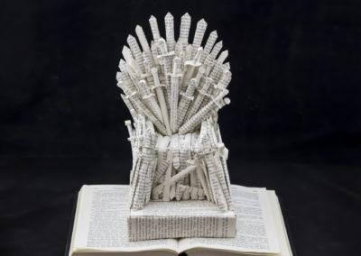 GoT Iron Throne Book Sculpture by Jamie B Hannigan - Front