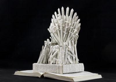 GoT Iron Throne Book Sculpture by Jamie B Hannigan - Front Left 2