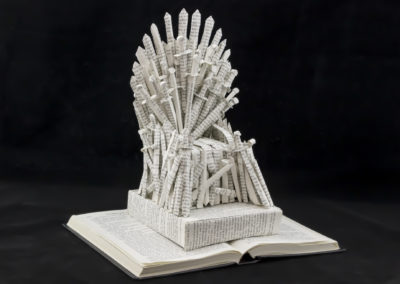 GoT Iron Throne Book Sculpture by Jamie B Hannigan - Front Right
