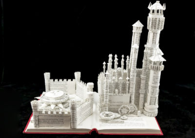 King's Landing Game of Thrones Book Sculpture by Jamie B. Hannigan - Front View