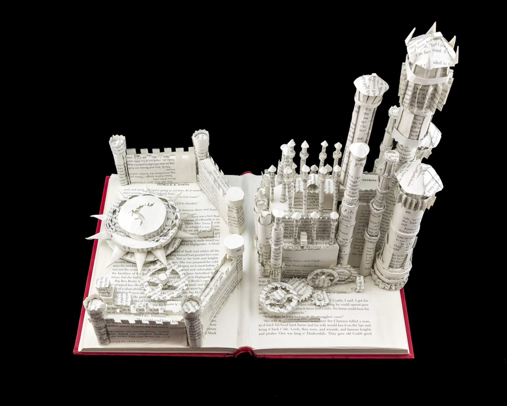 A Feast for Crows Book Sculpture of King's Landing by Jamie B. Hannigan