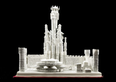 King's Landing Game of Thrones Book Sculpture by Jamie B. Hannigan