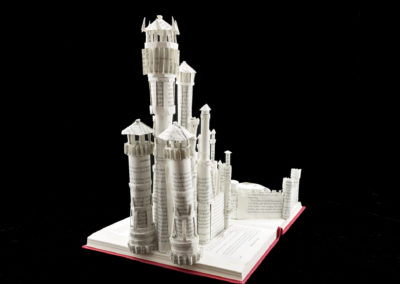 King's Landing Game of Thrones Book Sculpture by Jamie B. Hannigan - Rear View