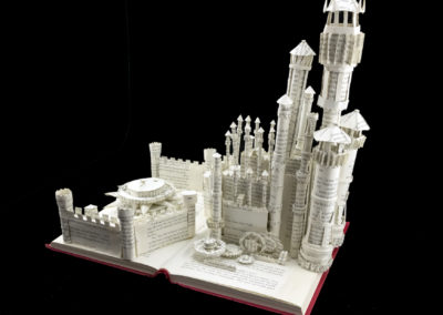 King's Landing Game of Thrones Book Sculpture by Jamie B. Hannigan - Front Right