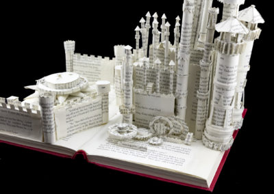 King's Landing Game of Thrones Book Sculpture by Jamie B. Hannigan - Red Keep Detail