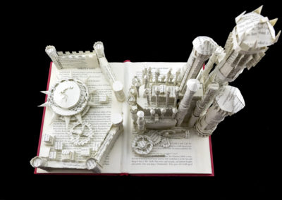King's Landing Game of Thrones Book Sculpture by Jamie B. Hannigan - View from Above 2