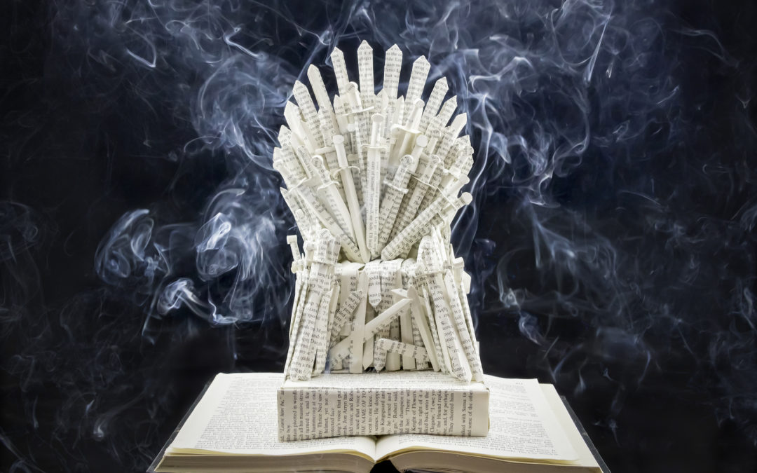 Book Sculpture: Game of Thrones – The Iron Throne