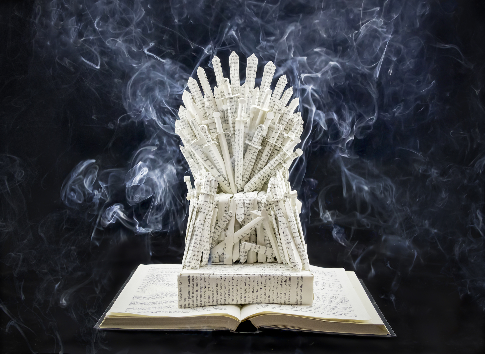 Game of Thrones - The Iron Throne Book Sculpture by Jamie B. Hannigan