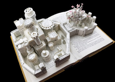 Winterfell Game of Thrones Book Sculpture - Above Left