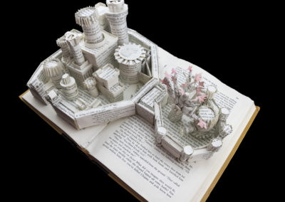 Winterfell Game of Thrones Book Sculpture - Above Right