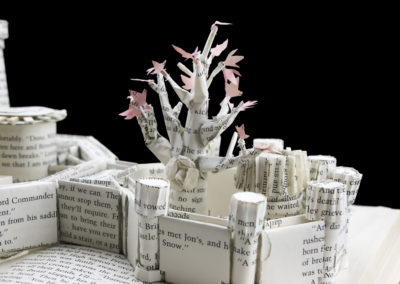 Winterfell Game of Thrones Book Sculpture - Detail