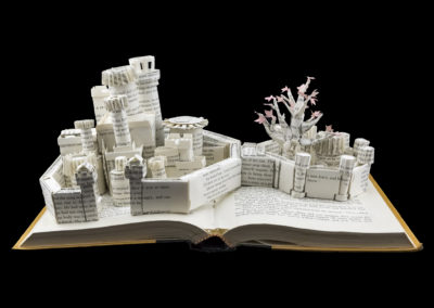 Winterfell Game of Thrones Book Sculpture - Front