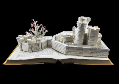 Winterfell Game of Thrones Book Sculpture - Rear