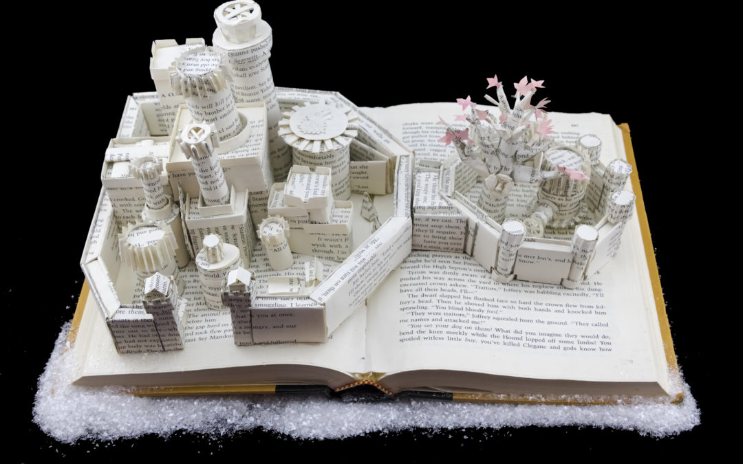 Book Sculpture: Winterfell (A Clash of Kings)