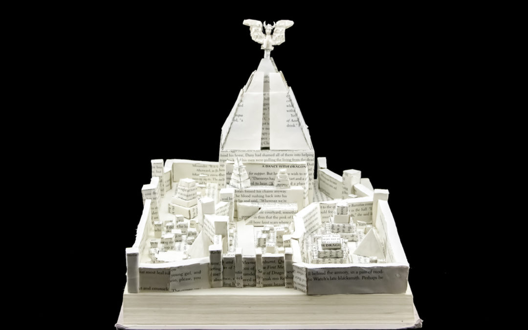 Book Sculpture: Meereen (A Dance With Dragons)
