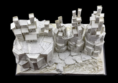 Game of Thrones Book Sculpture - Pyke and the Iron Islands - From Above | Jamie B. Hannigan
