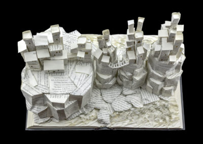 Game of Thrones Book Sculpture - Pyke and the Iron Islands - Above View | Jamie B. Hannigan