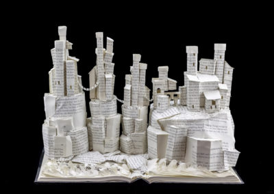 Game of Thrones Book Sculpture - Pyke and the Iron Islands - Back View | Jamie B. Hannigan