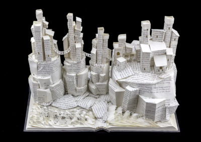 Game of Thrones Book Sculpture - Pyke and the Iron Islands - Back Side Above | Jamie B. Hannigan