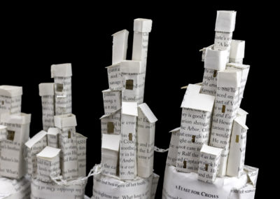 Game of Thrones Book Sculpture - Pyke and the Iron Islands - Detail | Jamie B. Hannigan