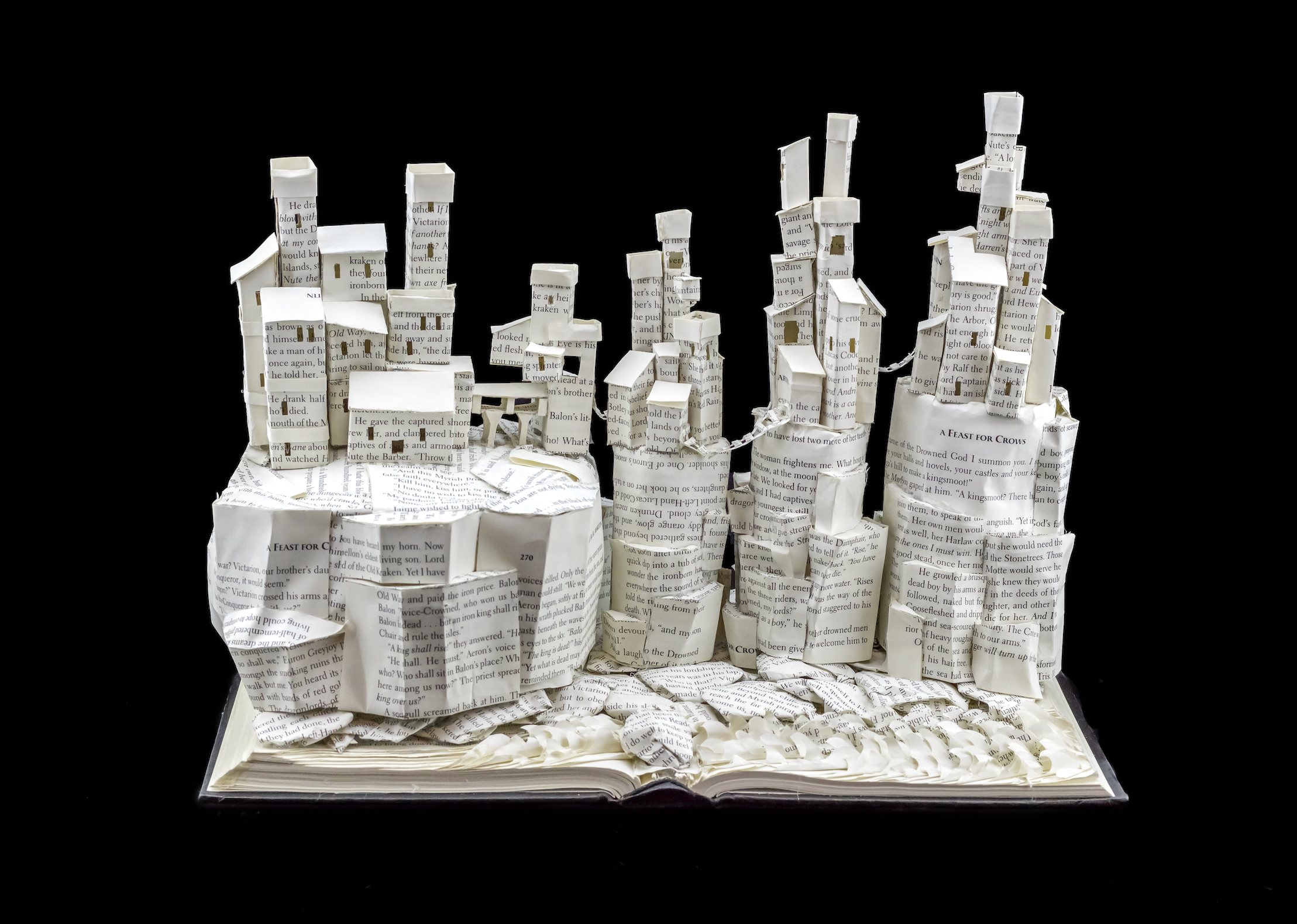 Game of Thrones The Wall and Castle Black Book Sculpture