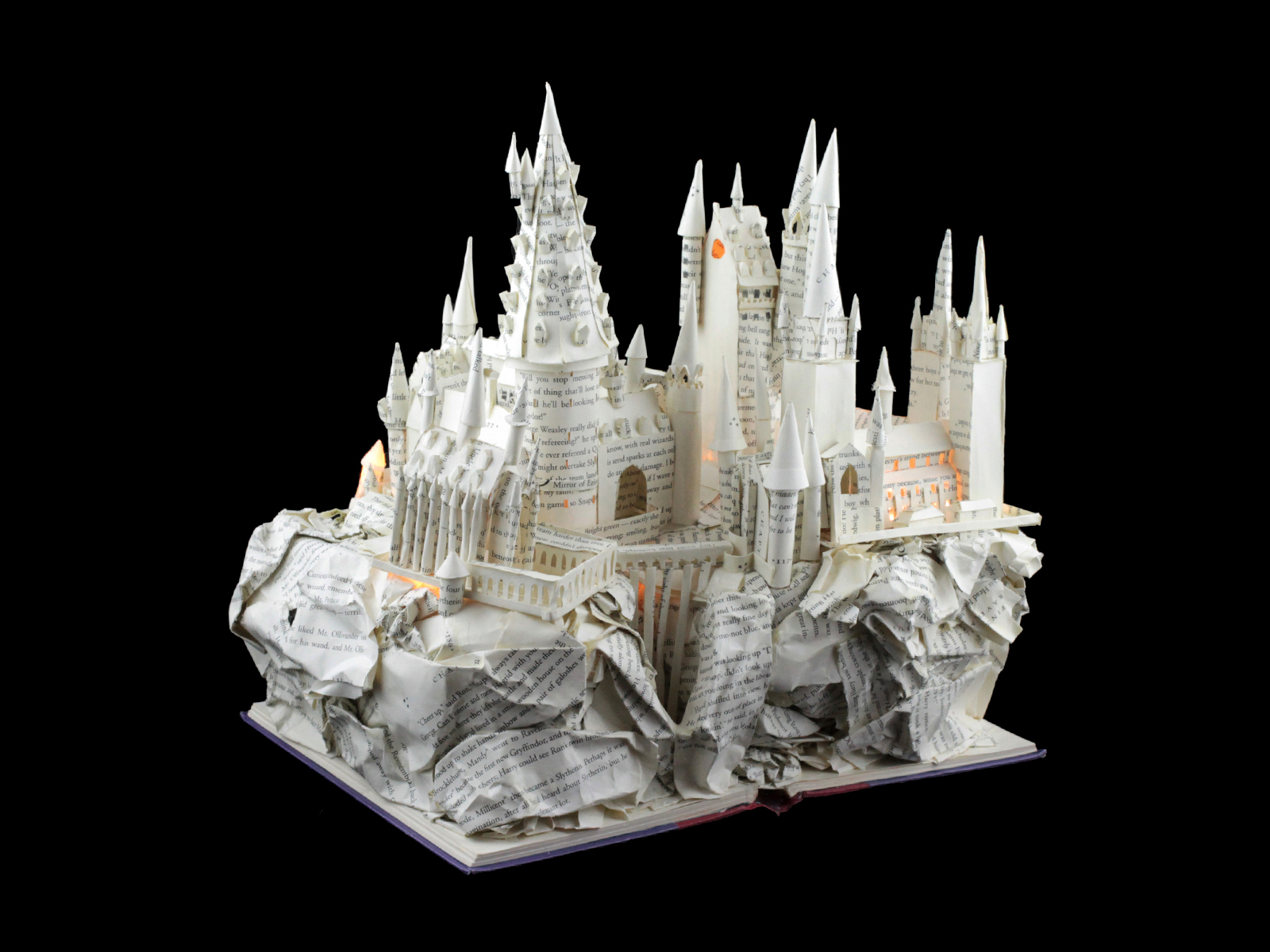 Harry Potter Hogwarts Book Sculpture
