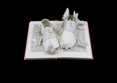 Above View - Lolita - Custom Book Sculpture by Jamie B. Hannigan