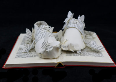 Front View - Lolita - Custom Book Sculpture by Jamie B. Hannigan